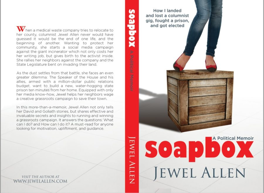 The cover of my political memoir, Soapbox. Click on the image to read what it's about.